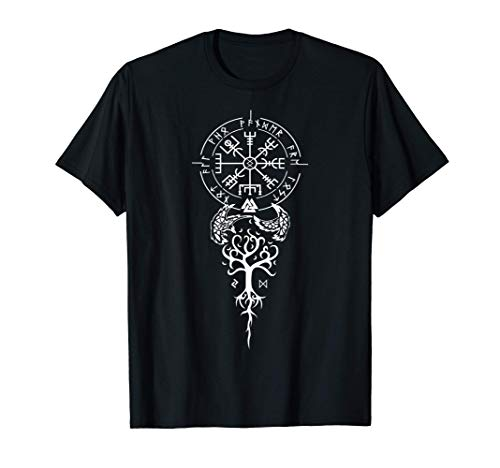 T-shirt E&M Viking Compass Protection Old Norse Warrior T-Shirt