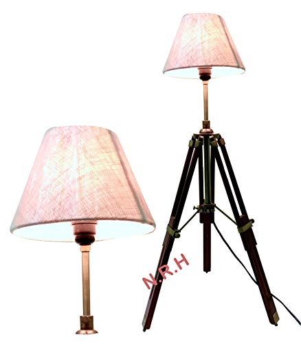 Classic Ventage Design Dreifuß Tischlampe mit Schirm Dekoartikel