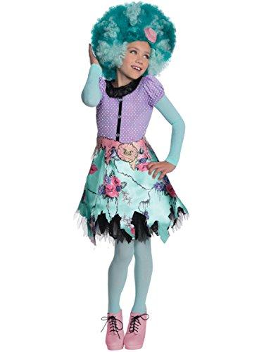 Girl's Monster High Honey Swamp Costume And Wig Bundle Medium 8-10