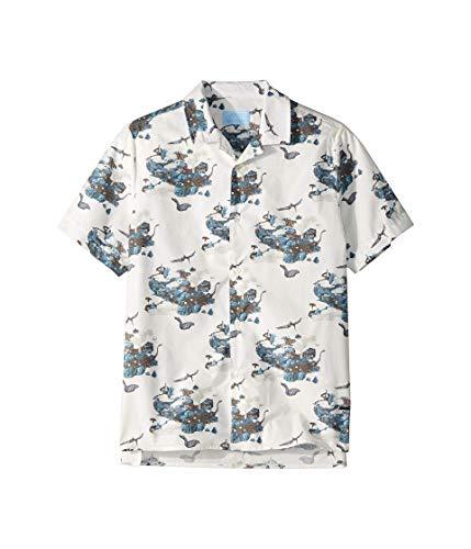 Lanvin Kids Boy's Dino Button Up Shirt (Big Kids) White 10 Years