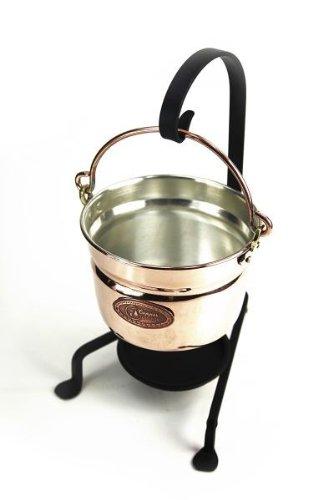 'CopperGarden' Fonduetopf aus Kupfer ❀ 11 cm ❀ Serviertopf ❀ romantisches Kochen direkt am Tisch