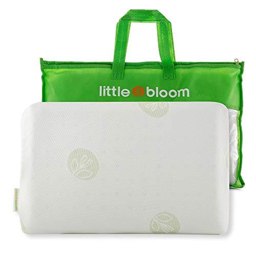 Almohada para Niños Pequeños Littlebloom - Almohada para Niños Hipoalergénica y con Certificación de No Tóxica - con Bolsa de Viaje para Niños de más de 18 Meses para Reducir la Presión Craneal