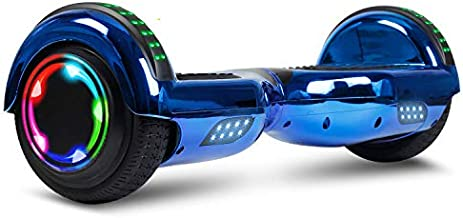 TST Adorable Hoverboard Certified Two-Wheel Self Balancing Electric Scooter 2019 Cool Toys for Adults and Kids (Chrome Blue)
