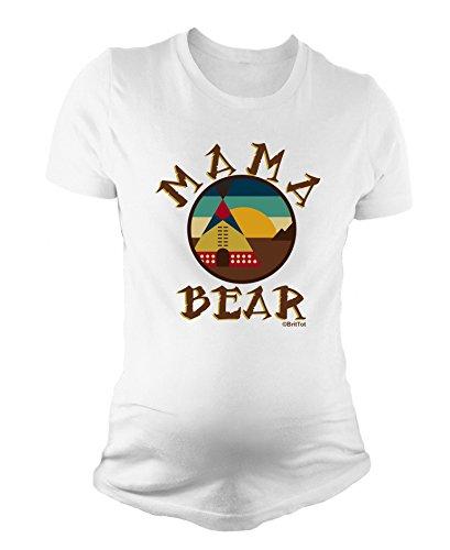 BritTot T-Shirt de maternité pour Dames Mama Bear bébé Cadeau de Grossesse Douche de bébé by