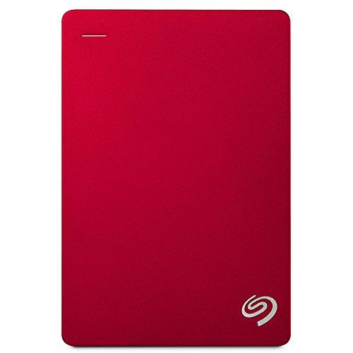 Seagate Backup Plus Portable 5 TB tragbare externe Festplatte (6,3 cm (2,5 Zoll) USB 3.0, PC und Mac) rot