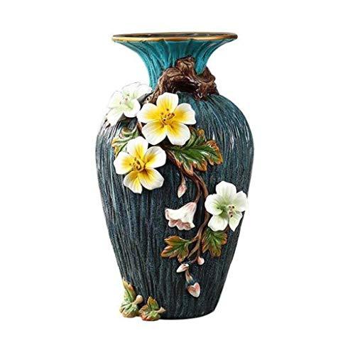 GANE Vaso Inserti di Fiori in Ceramica Decorazione squisita di Artigianato Atmosfera Lussuosa Decorazioni per la Stanza Ceramica per Fiori