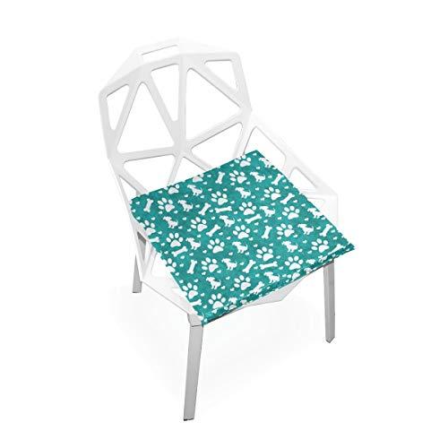 Enhusk La Chaise de Mousse de mémoire carrée Molle antidérapante Molle Faite sur Commande Multicolore de Coussin de Coussin de Coussin de Coussin de siège Cuisine à de Salle à Manger 16 x 16 Pouces