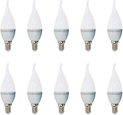 10er SET, V-TAC, 4164, E14, 4W, LED Birne, LED Kerze mit Flamme, 2700K, Warmweiß, 350 Lumen, 220° Abstrahlwinkel, VT-1818TP
