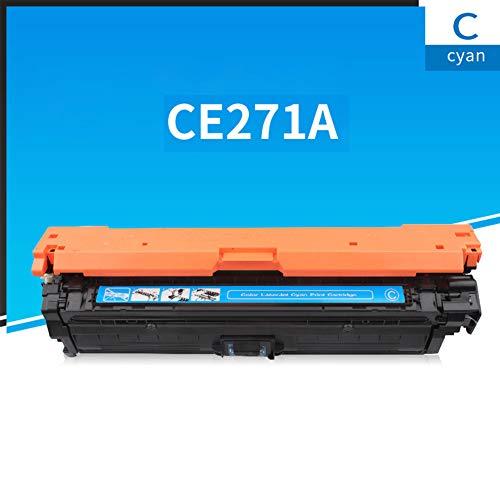 GXZC Compatible Color Toner Box Reemplazo para HP CP5525, M750 Impresora a color, Negro Cian Magenta Amarillo 4 Colores Cian