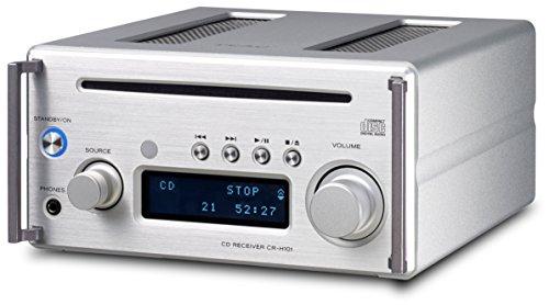 Teac CR-H101DAB(S) Mikro CD/DAB+ Receiver mit CD Player, DAB/UKW Radio, Bluetooth, USB, Streaming, HighRes Audio, DA Wandler, Subwoofer-Ausgang, Gehäuse aus gedrehten Aluminiumplatten, Silber