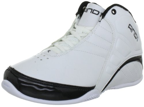 AND1 Unisex-Kinder Rocket 3.0 Mid Boy's Basketballschuhe, Weiß (White/White-Black), 40 EU (6 UK)