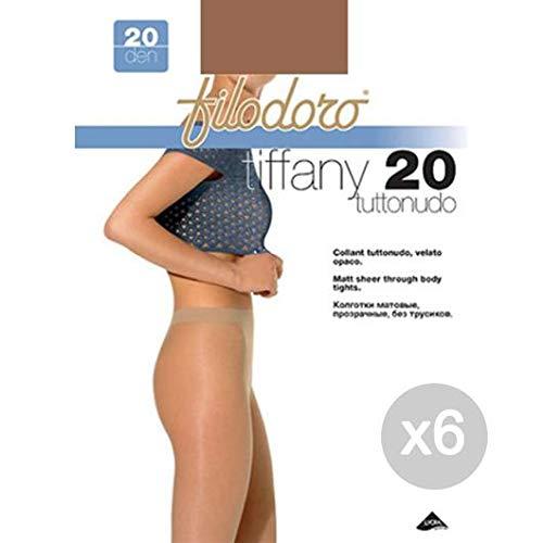 Filodoro 6-delige set Tiffany 20 Tg 3M Cognac kousen kousen voor dames, meerkleurig, eenheidsmaat