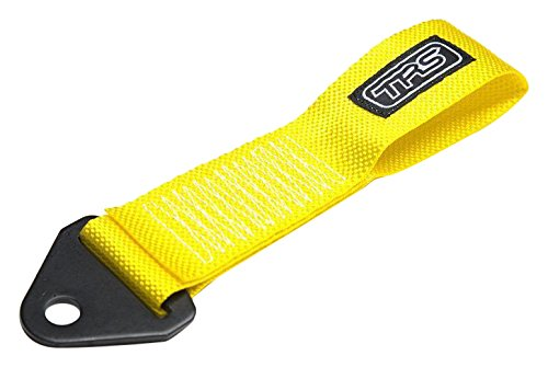 TRS-MOTORSPORT AS-GELB Original TRS Schlaufe Universal Abschleppschlaufe Abschleppöse Racing Yellow Tow Hook JDM Tuning