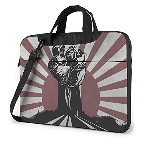 Bolsa para portátil de 13-15,6 Pulgadas Puño de bandera japonesa Bolso de Hombro para portátil Bolso de Hombro Elegante Ordenador Portátil