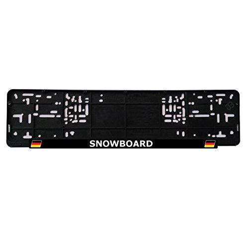 JOllify snowboard kentekenplaatbevestiging kentekenplaathouder - Aantal: 1 stuk Design: Deutschland Flagge