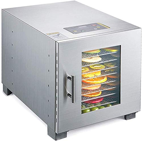Read About XSWZAQ Commercial Food Dehydrator Machine | Easy Setup, Digital Adjustable Timer and Temp...