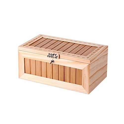 Bijenklaver houten nutteloze doos laat me alleen doos meest nutteloze machine niet aanraken tijger speelgoed cadeau met geluid kleur e