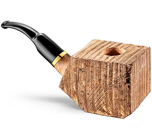 Tobacco Pipe Briar Wood Block - Pre Drilled
