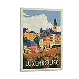 IEJDA Luxemburg Vintage City Reise Poster Dekorative