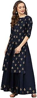 Radhika Fashion Women's Rayon Printed Kurta Palazzo Set