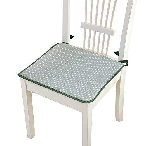 RAQ vierkante stijl, van katoen, voor banken, zitkussen met bladeren, antislip, voor eetkamerstoelen, kussens, zacht