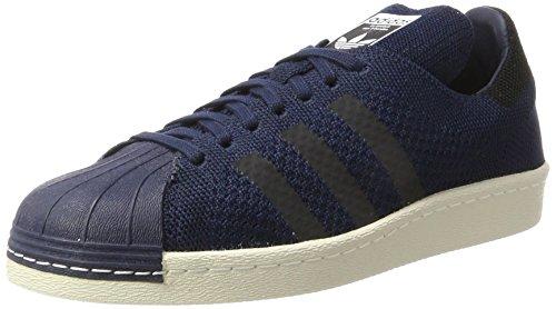 adidas Superstar 80S Primeknit, Sneaker Unisex-Adulto, Blu (Collegiate Navy/Core Black/Onix), 43 1/3 EU