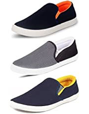 TEMPO Men's Combo Pack of 3 Loafers Shoes