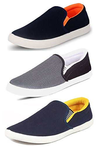 Tempo Men's Multicolor Synthetic Combo Of 3 Loafers & Moccasins - 8