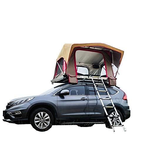 Yx-outdoor Soft Top Daktent, 3-4 Person Soft Top Mobiele Kamer, Ultra Licht Vouwen Met Verlengladder, Geschikt voor Camping En Zelfrijdende Tour.