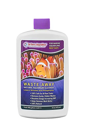 DrTim's Aquatics Reef Waste-Away Sludge Busting Bacteria – For Reef, Nano, Seahorse Aquaria, Fish Tanks, Aquariums – Unclogs, Cleans Gravel Beds, Removes Hidden Wastes – 100% Natural – 16 Oz., 473