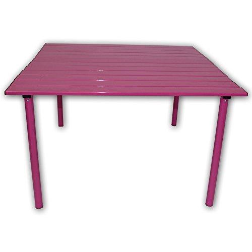 Table in a Bag A2716F Low Aluminum Portable Table with Carrying Bag, Fuchsia