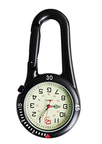 Clip On Outdoor Quartz Watches Carabiner Watches Come with Extra Battery