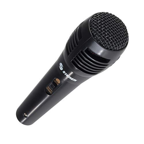 Steren – Microfono unidirec c/cable 3m neg steren