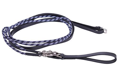 Arbo-Inox Schlaufzügel Zügel Leder mit Rundkordel (Full, schwarz)