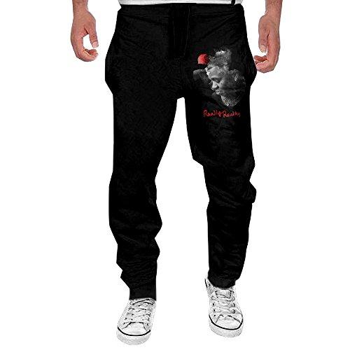 HOBOBoom Kevin Gates - Really Really Men's Cotton Closed-Bottom Jogger Pants Black