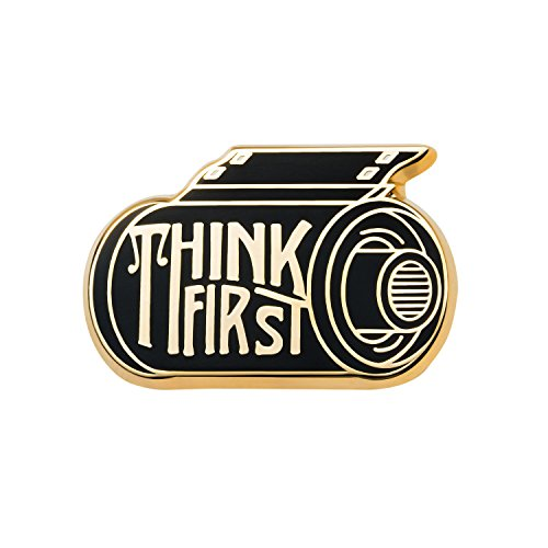 Asilda Store Lapel Enamel Pin [with Deluxe Pin Lock] (Think First)