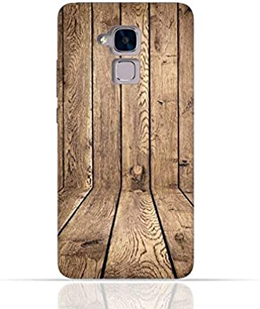 Huawei 5C / Huawei Honor 7 Lite/Huawei GT3 TPU Silicone Case with Wood Texture Old Panels Pattern