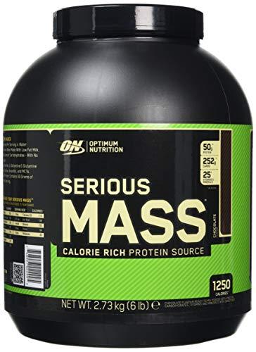 Optimum Nutrition Serious Mass, Con proteine whey in Polvere per Aumentare la Massa Muscolare, Cioccolato, 2.73 kg, 8 Porzioni