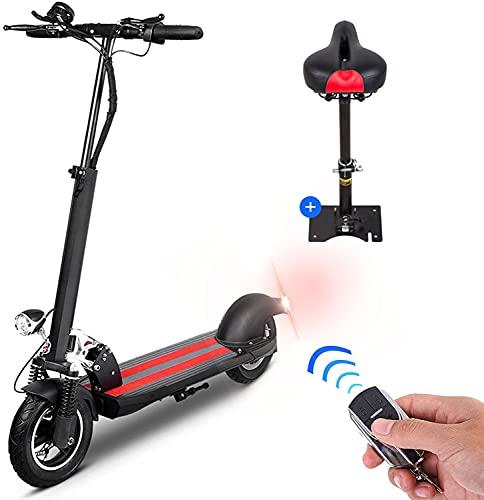 Scooter Eléctrico Adulto, Bicicleta Eléctrica Plegable para Adolescentes con Asiento Rápido, Motores 350W, Velocidad Máxima de 40km/h, Scooter Eléctrico Plegable Pantalla LCD Batería de Li-Ion de 10Ah