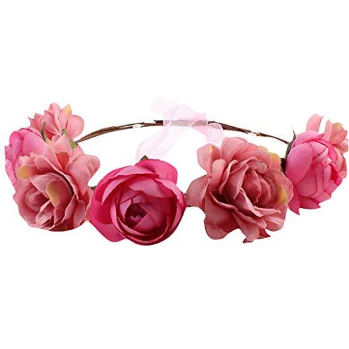 Kranz-Tiara-HaarzusäTze Der GroßEn Pfingstrosenblume Rosafarbene Blume Weibliches