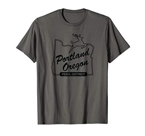 PDX Portland Oregon Sign: Pearl District - Portland Oregon T-Shirt