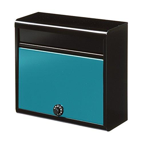 グリーンライフ(GREEN LIFE) 郵便ポスト 薄型スチールポスト ダイヤル錠 スリムで設置場所を選ばない 14.0×35.0×37.0cm FH-614D(MBGR)