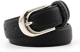 SGJFZD Women's Belt Fine Fashionable Wild Pants Belt Tide Retro Pin Buckle Decorative Belt Female Students (Color : Black, Size : 105 * 2.4cm)