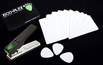 10 x Plectrum Pick Material (credit) Cards 0.73mm for Pickmaster Pick Maker Punch White