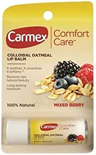 Carmex Comfort Care Colloidal Oatmeal Lip Balm Mixed Berry .15 oz tubes - 12 ct, Pack of 4