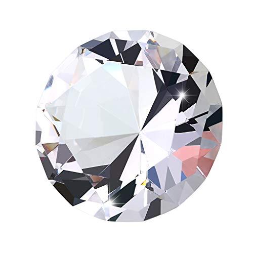 BSTKEY - Fermacarte in cristallo, 100 mm, decorazione per fotografia, decorazione per feste di nozze, decorazioni scintillanti, luce solare riflettono