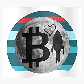 Ether Cryptocurreny Crypto Lightcoin Moon Light Bitcoin Coin Etherum The to Best Poster Wall Art for Home Decoration 16x24 Inches