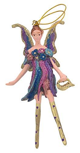 Diseño de hada, diseño, diseño de mariposa colgante, Azul, Púrpura, Oro, 12,5 cm