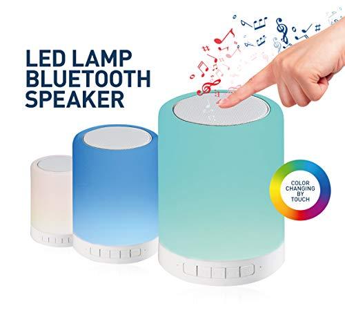 Platinet PLA43518 Touch Control Nachtkastje Bluetooth LED-lamp luidspreker met 6 kleurwisselmodi