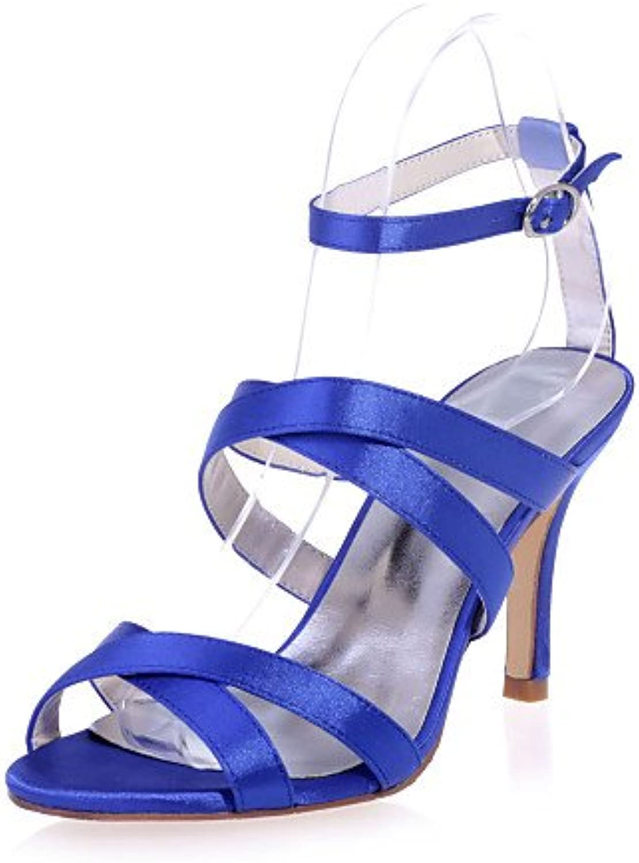 MEIREN Women's shoes Satin Stiletto Heel Open Toe Sandals Wedding Party & Evening shoes More colors available